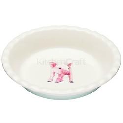 AF Блюдо для пирога керамічне Свинка