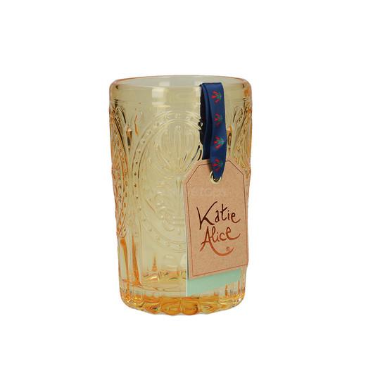 Katie Alice Festival Folk Стакан стеклянный желтый 350 мл  (арт. 5201938)