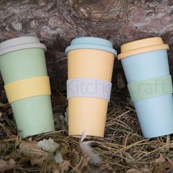 NE Чашка з бамбуку 375 мл зелена