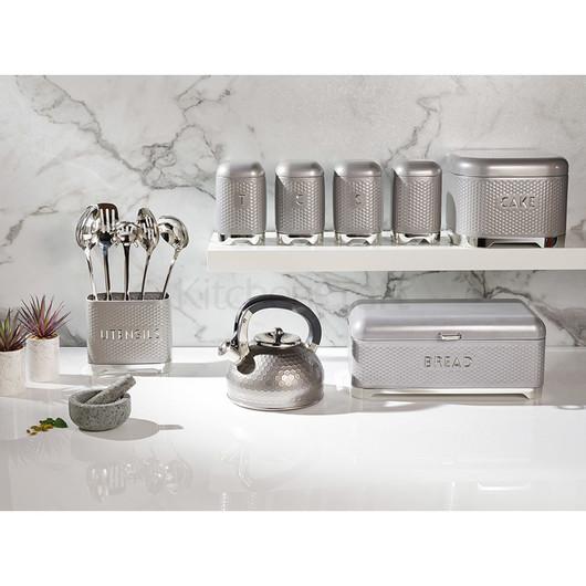 LovG Ємкість для торту металева сіра 26*26*19 см  (арт. 785855)