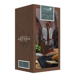 MC Artesa Набір для сиру з дерев'яною підставкою та 4 приборами