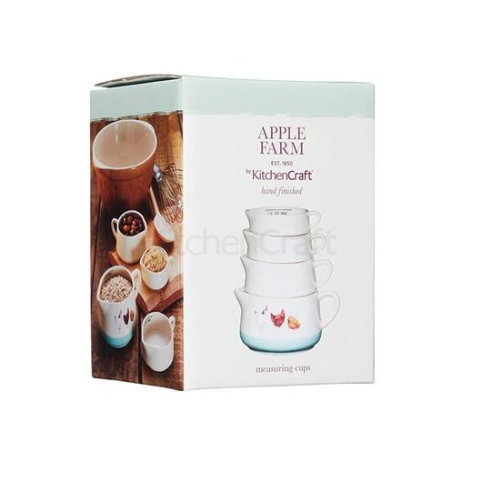 AF Набір мірних чашок керамічний Курочки 4 одиниці  (арт. 774064)