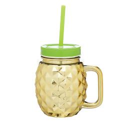 BC Чашка скляна з трубочкою Ананас 500 мл
