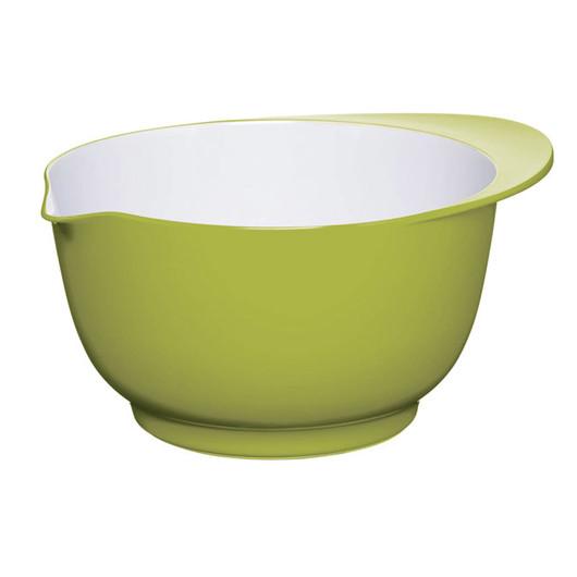 CW Миска меламінова двоколірна 22см (3л) зелена з білим