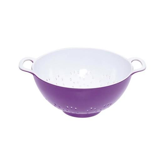 CW Коландер меламиновый двухцветный 15см (700мл) фиолетовый с белым