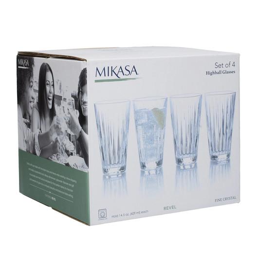 Mikasa Revel Набір високих гранених стаканів 340мл 4 од  (арт. 5140390)