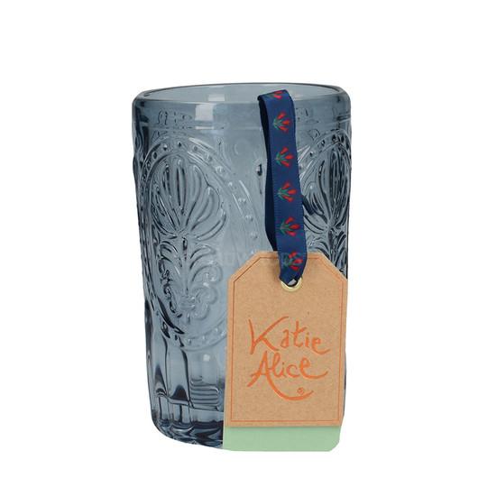 Katie Alice Festival Folk Стакан стеклянный синий 350мл  (арт. 5201937)