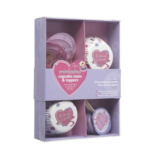 Miniamo 'Fluttercup' Набор формочек и флажков для 24 кексов  (арт. 104090)