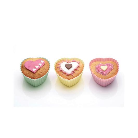 SDI Формы для кексов Сердце силиконовые 7см 12 единиц  (арт. 102829)
