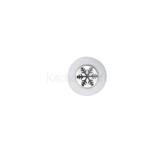 SDI Насадка на кондитерський шприць з нержавіючої сталі велика Сніжинка 2 см  (арт. 801876)