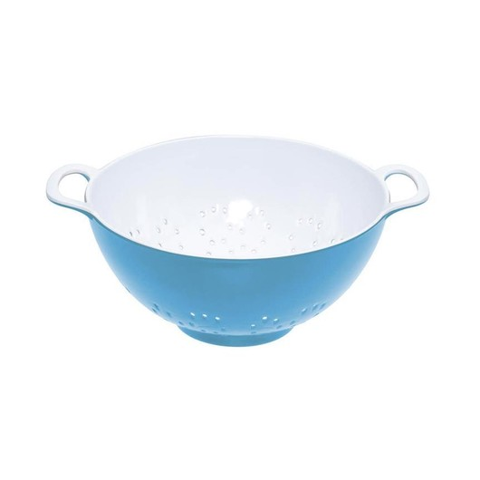 CW Коландер меламиновый двухцветный 15см (700мл) голубой с белым