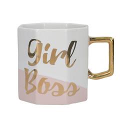 CT Ava & I Чашка керамическая восьмиугольная Girl Boss 450 мл