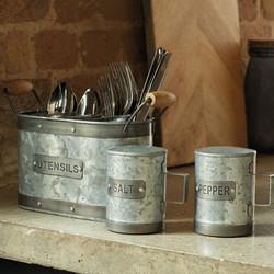 IK Ємкість для кухонного приладдя металева 28*11*17 см
