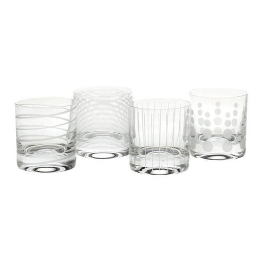 Mikasa Cheers Набір стаканів для віскі з кришталевого скла 377мл 4 од  (арт. 910415)