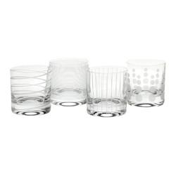 Mikasa Cheers Набір стаканів для віскі з кришталевого скла 377мл 4 од