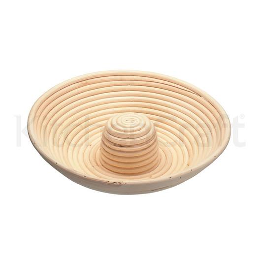 HM Кошик для вистоювання і формування тіста з ротанга (коло з отвором) 28x6.5 см  (арт. 498014)