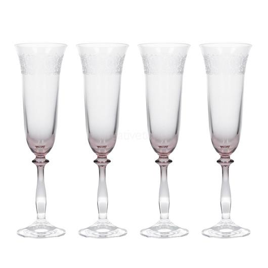 Katie Alice The Collection Набор бокалов для шампанского с тиснением 4 ед  (арт. 000180)