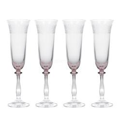 Katie Alice The Collection Набор бокалов для шампанского с тиснением 4 ед