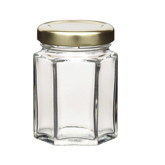HM Банка для консерваций стеклянная шестиугольная