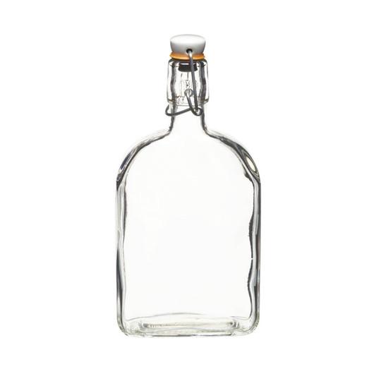 HM Пляшка скляна з керамічною пробкою і затискачем для джина 500мл (22см)  (арт. 167613)