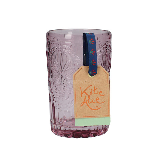 Katie Alice Festival Folk Стакан скляний рожевий 350 мл  (арт. 5201940)