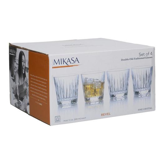Mikasa Revel Набор граненых стаканов 284мл 4 ед  (арт. 5140391)