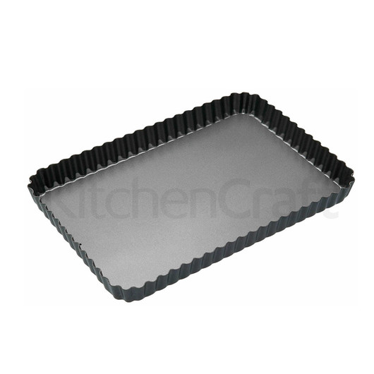 MC NS Форма для выпечки пирога прямоугольная с антипригарным покрытием и съемным дном  (арт. 154484)