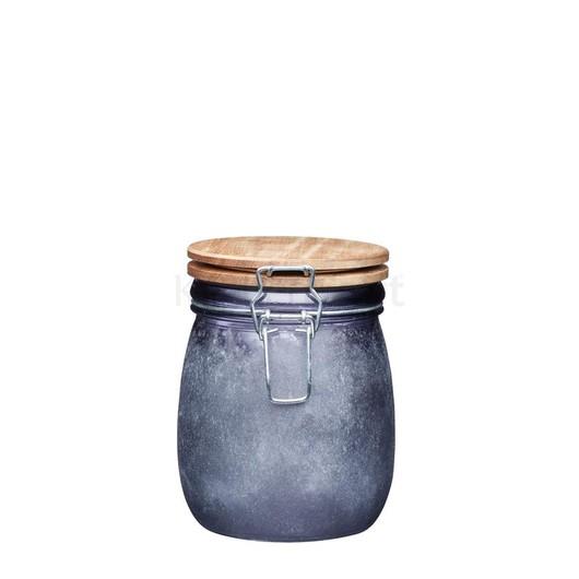 IK Банка для зберігання скляна з дерев'яною кришкою 700 мл  (арт. 768094)