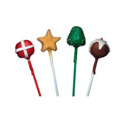 SDI Палочки для мини тортиков (кейк попс) цветные 15см 60 единиц (белые/зеленые/красные)