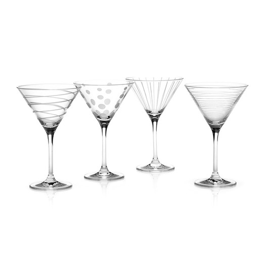 Mikasa Cheers Набір бокалів для мартіні із кришталевого скла 4 од  (арт. 5159319)