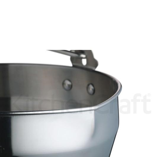 HM Відро для проварювання варення з ручкою 30см (9л) з нержавіючої сталі  (арт. 120502)