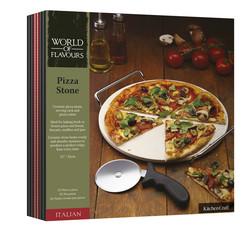 WFIT Набор для пиццы 32см (камень, подставка, нож)