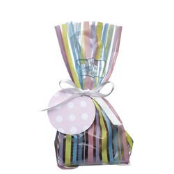 SSDI пакетики для солодощів в смужку з стрічкою