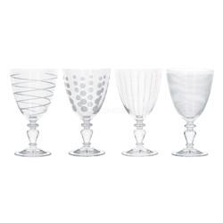 Mikasa Cheers Набір бокалів для вина на ніжці з кришталевого скла 503мл 4 од