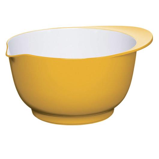 CW Миска меламінова двоколірна 22см (3л) жовта з білим