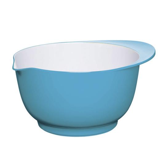 CW Миска меламінова двоколірна 22см (3л) блакитна з білим