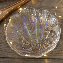 CT Ava & I Підставка для прикрас у формі раковини скляна перламутрова