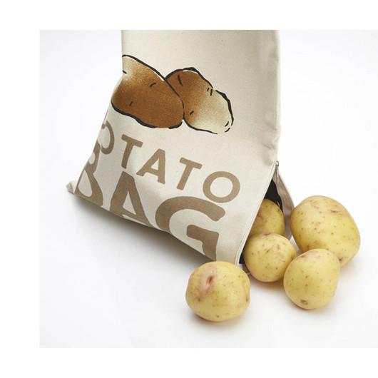 KC Мішок з тканини для зберігання овочів (картопля) з чорною внутрішньою поверхнею і бічною блискавкою  (арт. 171818)