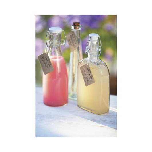 HM Бутылка стеклянная с керамической пробкой и зажимом 80мл (11,5см)  (арт. 161833)
