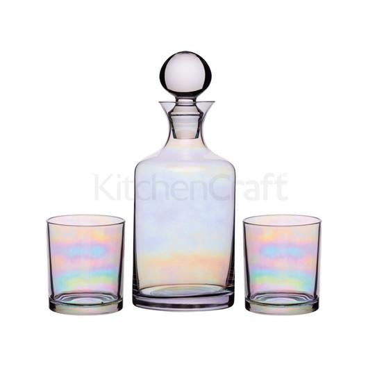 BC Lustre Набір скляний (графин 1л та стакани 350мл 2 од)  (арт. 794673)