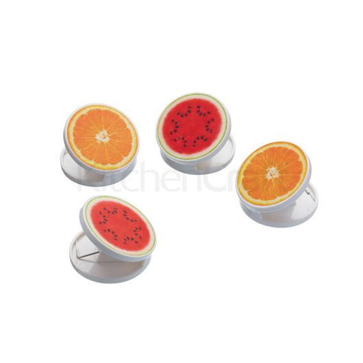 KC Набор зажимов-магнитов Ассорти из фруктов 4 шт.  (арт. 643698)