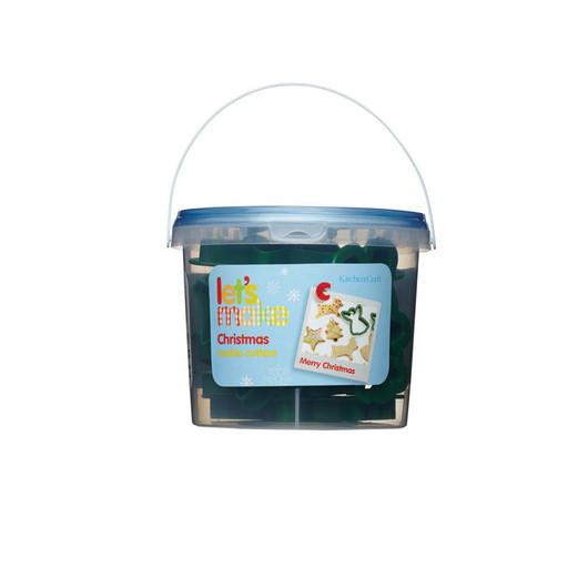 Let's Make Формочки для печенья Рождество пластиковые 12 элементов в тубе  (арт. 148582)