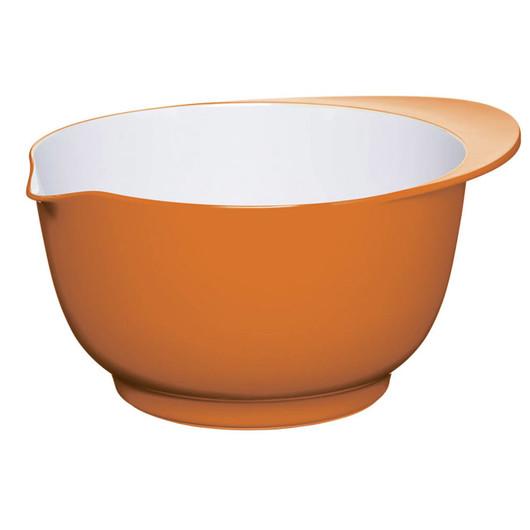 CW Миска меламінова двоколірна 22см (3л) помаранчева з білим