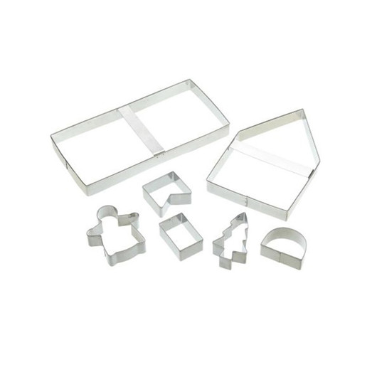 SDI Формочки для печенья Пряничный домик металлические 7 единицы  (арт. 474018)
