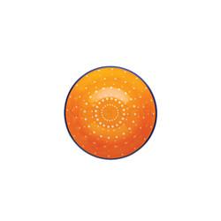 KC Миска керамічна Помаранчевий орнамент 15.5x7.5см 500мл