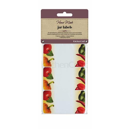 HM Наклейки для банок с вареньем и консервацией 30 единиц - Овощи  (арт. 148292)