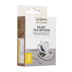 LX Заварник для чаю Серце з нержавіючої сталі