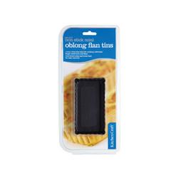KC NS Форми для випічки міні-пирогів рифлені з антипригарним покриттям 11см х 6см 2 одиниці