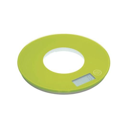 CW Весы кухонные электронные круглые 5кг зеленые
