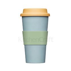 NE Чашка з бамбуку 375 мл блакитна